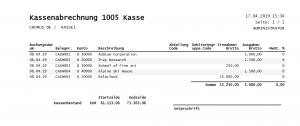 Bericht Kassenbuch